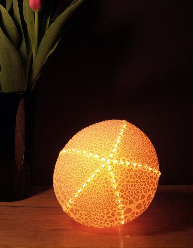 Small original urchin lamp radiance