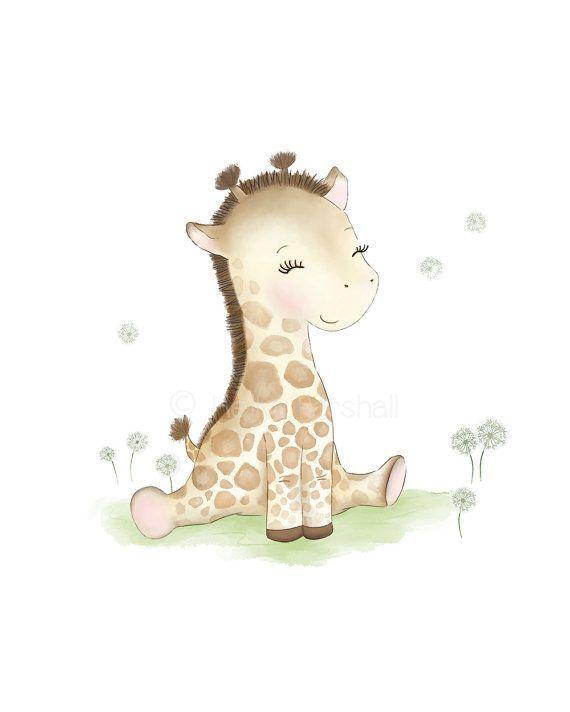 Giraffe Nursery Art  Baby Giraffe  Giraffe by SweetCheeksImages $12.00 AUD