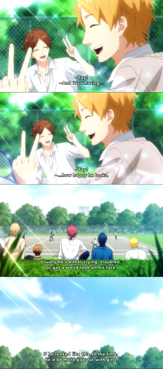 Do boys really talk like this about each other when girls are not around?   Anime: Rainbow Days, Nijiiro Days