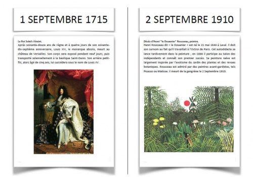 Cartes dates historiques Rituel