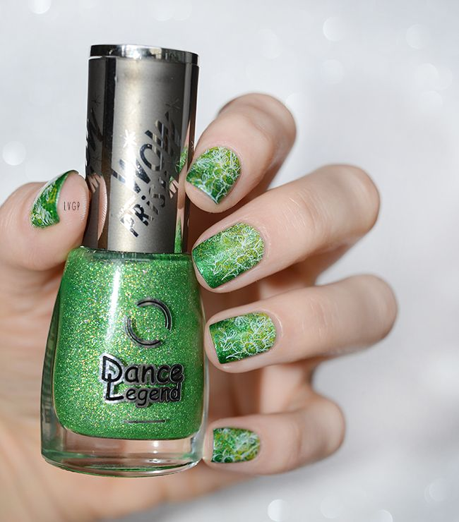 Inhale Wow Prism - Dance Legend (Gradient et Staping Nail Art)