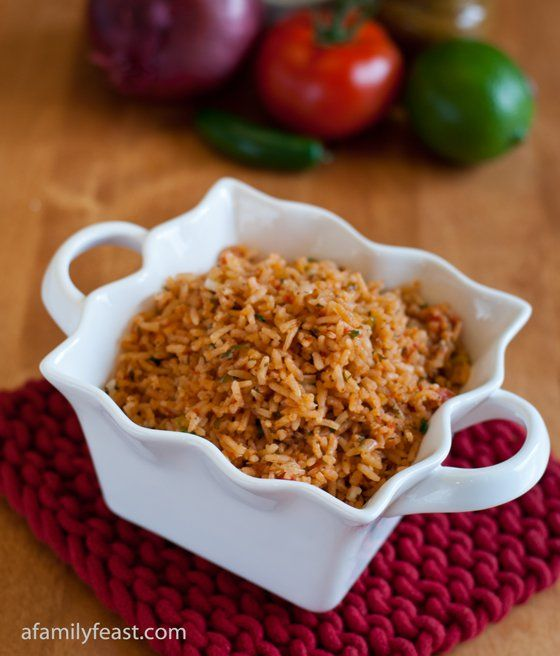 Mexican Rice A PERFECTLY SEASONED RICE WITH ONIONS, PEPPERS, AND A DELICIOUS BLEND OF SPICES AND A FEW OTHER INGREDIENTS. YOU WILL LOVE TO MAKE THIS FOR YOUR CHURCH FRIENDS OR FAMILY ANYTIME OF THE DAY LUNCH OR DINNER. MAKE IT AND YOU WILL SEE...ENJOY