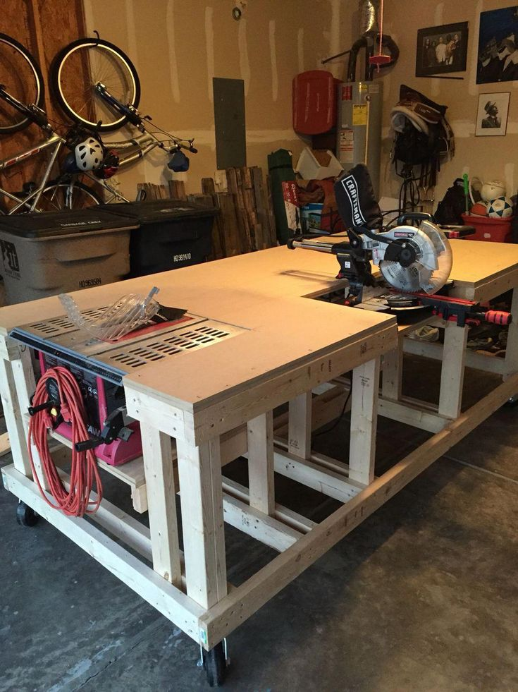tablesaw workbench #Workbenches | Woodworking bench plans ...