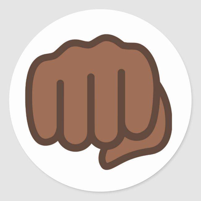 Cool Fist Bump Emoji Classic Round Sticker Zazzle Com In 2020 Fist Bump Round Stickers Emoji Gifts