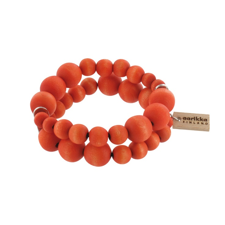 Aarikka wooden jewelry- Bracelets : Pilvi bracelet, orange