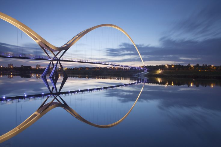 The Infinity Bridge between Stockton and Thornaby-on-Tees