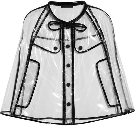See through rain cape, Burberry. NEED.