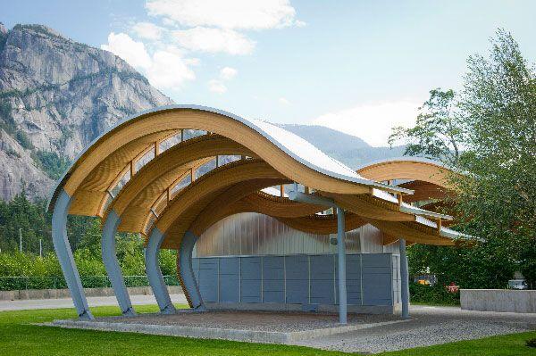 O'Siyam Pavilion, Squamish, BC   Formline Architecture,   Photo: Michael Crane