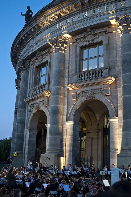 Concert outside of Bode Museum in Berlin, Germany   - Explore the World with Travel Nerd Nici, one Country at a Time. http://TravelNerdNici.com