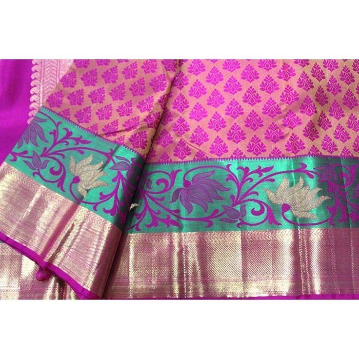 Pink Kanchipuram Wedding Silk Saree : Padmavati