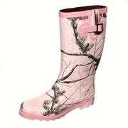 Realtree Girl Pink Camouflage Rainboots