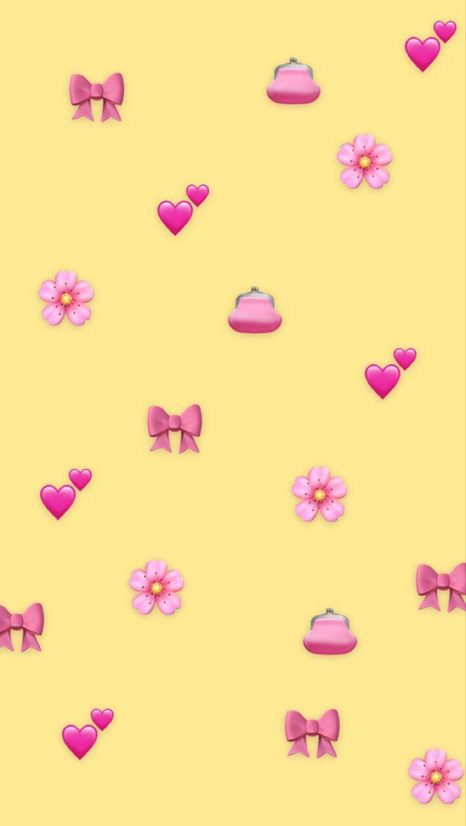 Pink And Yellow Wallpaper Emoji Wallpaper Pink Emoji Wallpaper Pink Wallpaper