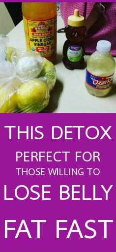 This detox, perfect for those willing to lose belly fat