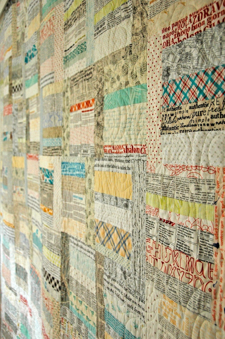 Quilt it: sunday morning paper