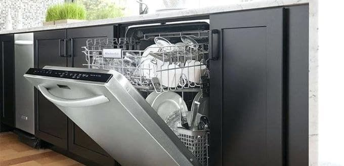 Samsung 24 In Stainless Steel Front Control Dishwasher With 3rd Rack And 51 Dba Dw80n3030us The Home Depot Samsung Dishwasher Built In Dishwasher Dishwasher