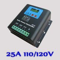 25a 110 v lub 120 v regulator ładowania słonecznego, 25a regulator dla 3000 110 v lub 120 v baterii w modułów pv panele słoneczne, Wyświetlacz led i lcd