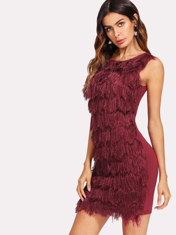 Shop Faux Fur Panel Dress online. SheIn offers Faux Fur Panel Dress & more to fit your fashionable needs.