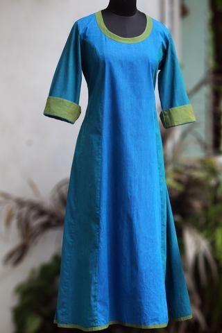 anarkali - turquoise blue & sea green