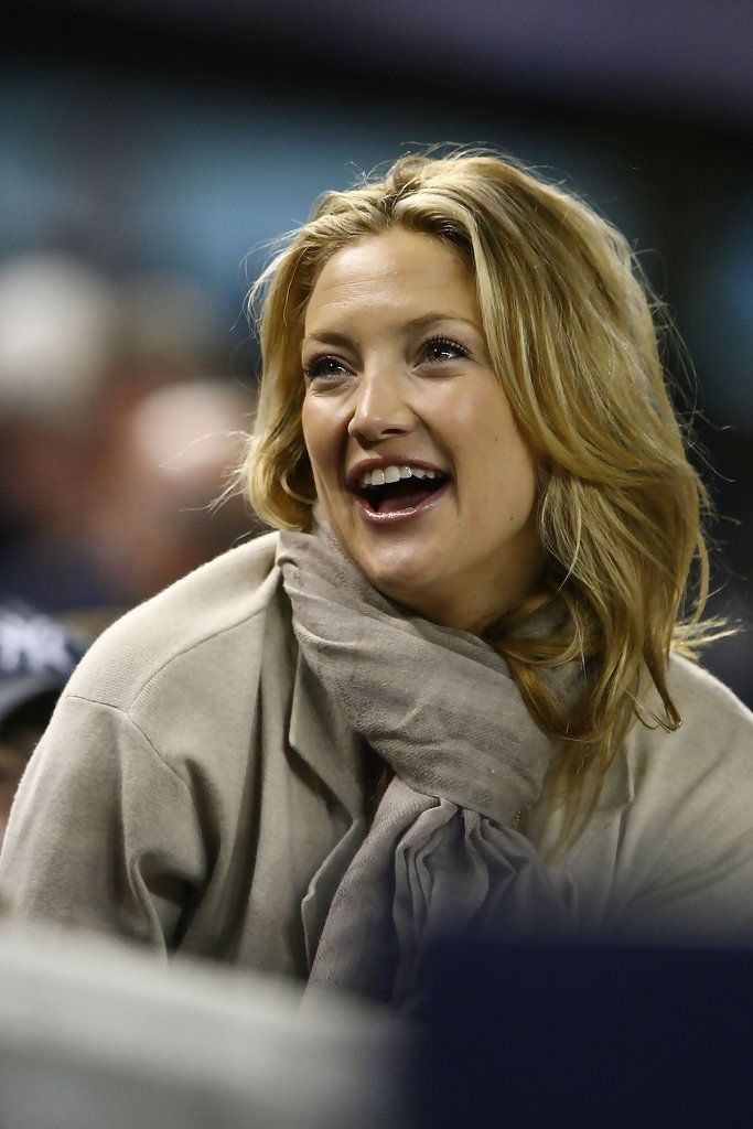 Kate Hudson Layered Cut - This long layered cut served Kate Hudson well as she cheered for her man in the Yankees' stands.