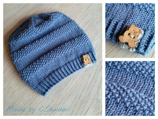 Knitted hat - Klompelompe boken