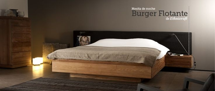 Mesita de noche Burger Flotante Teka Nightstand de Ethnicraft. Ecodesign. #ethnicraft, #teka, #teca, #ecodesign, #dormitorio, #mesitadenoche, #nighstand, #Nachttisch, #tabledechevet, #mesa, #table.