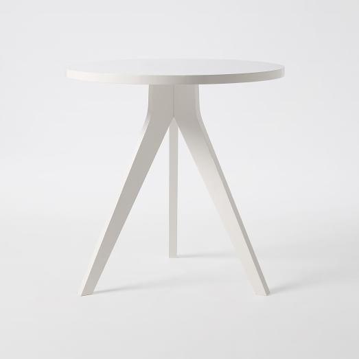 Tripod Table, White Lacquer
