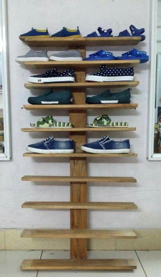 Shoe Racks Wood Pallet For Kid Diy And Crafts In 2019