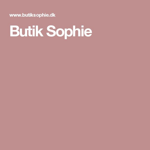 Butik Sophie