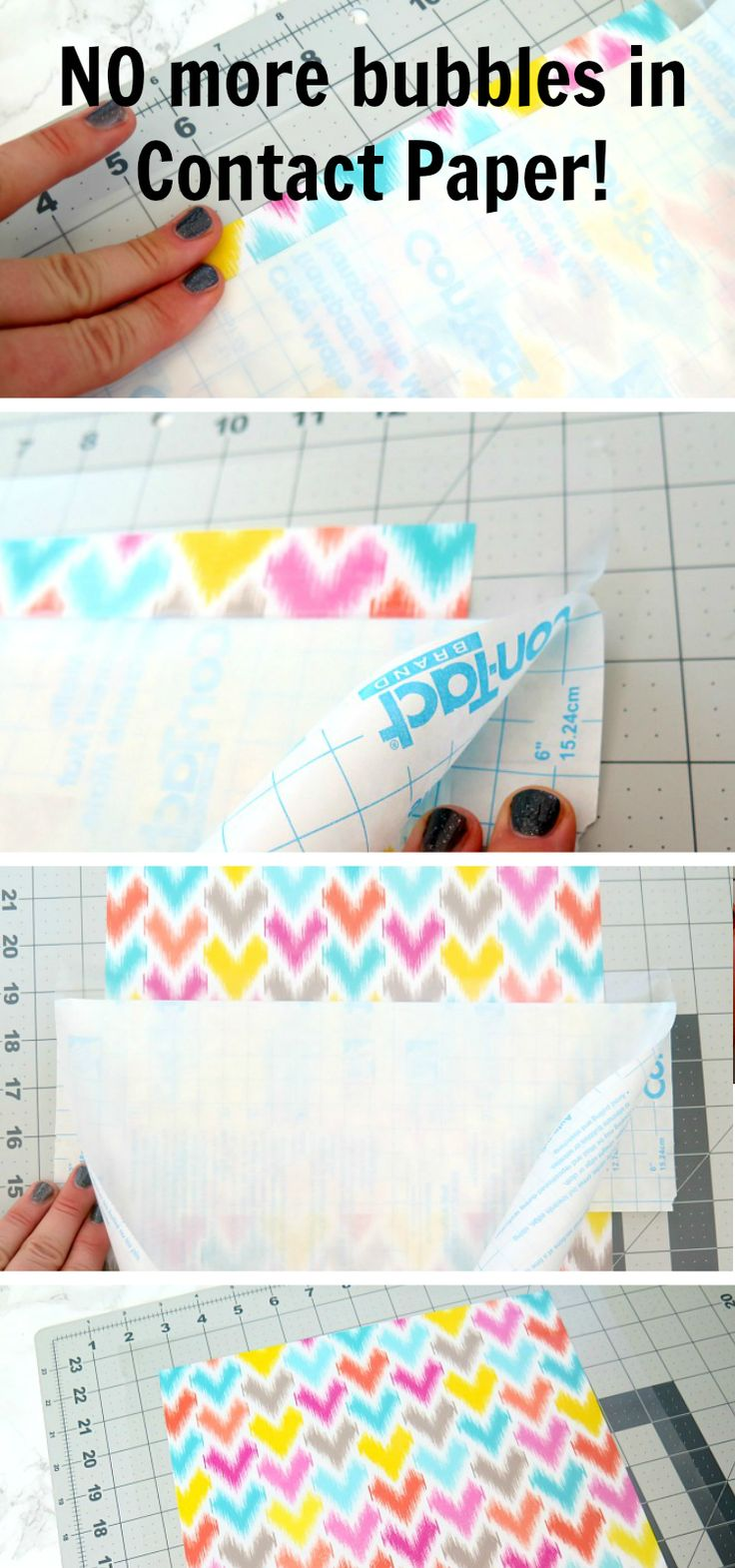Why didn't I think of this? BRILLIANT! Pinning for later. Finally, how to avoid bubbles and crinkles in contact paper!