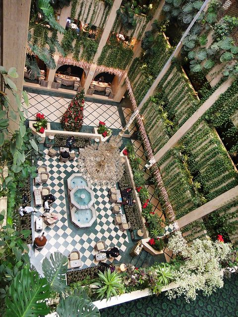 Cham Palace Hotel, Damascus. I'd love to see this (or have it), done in a scaled down version of course ;D