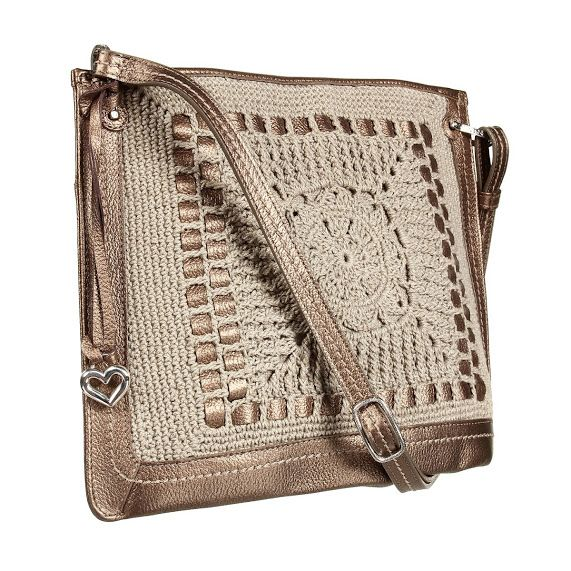 "Outstanding Crochet: ""Messenger"" purses with crochet embellishment from..."