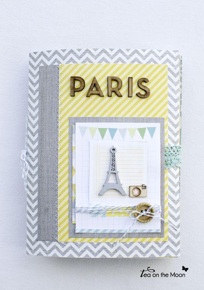mini album scrapbook Paris portada