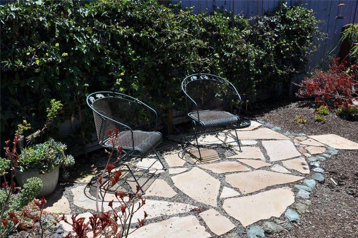 outdoor sitting areas by gardens   Small Beach Garden Sitting Area