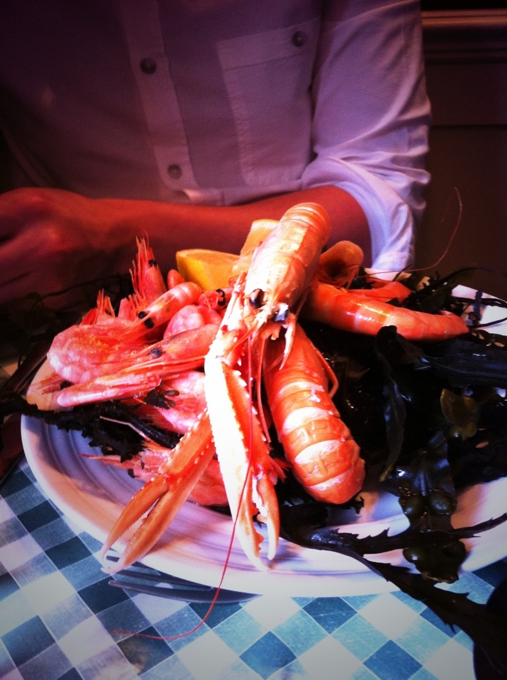 Prawn platter at the Jolly Frog, 3 miles from our Shropshire B, Hopton House
