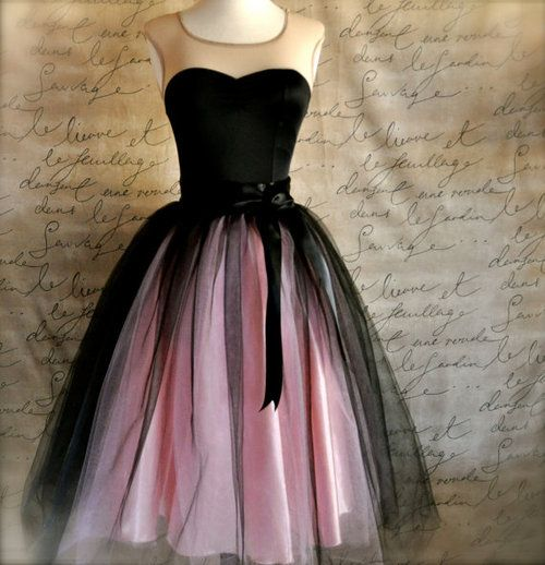 I like this black and pink dress.