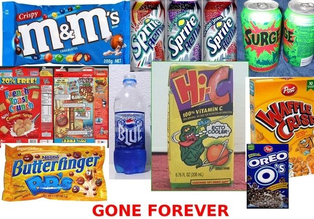 13 things about your childhood you never realized that will blow your mind: Food, French Toast, Sad Face, Crispy M Ms, Butterfinger Bbs, So Sad