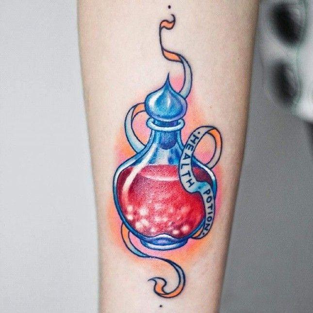 images about Tattoo: Potion/Lantern/Tea on Pinterest   Alive tattoo ...