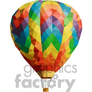 Hot Air Balloon geometry geometric polygon #vector #graphics #RF #clipart #images #triangleart