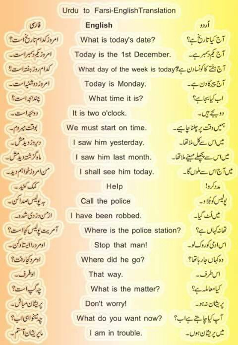 Learn persian in urdu pdf