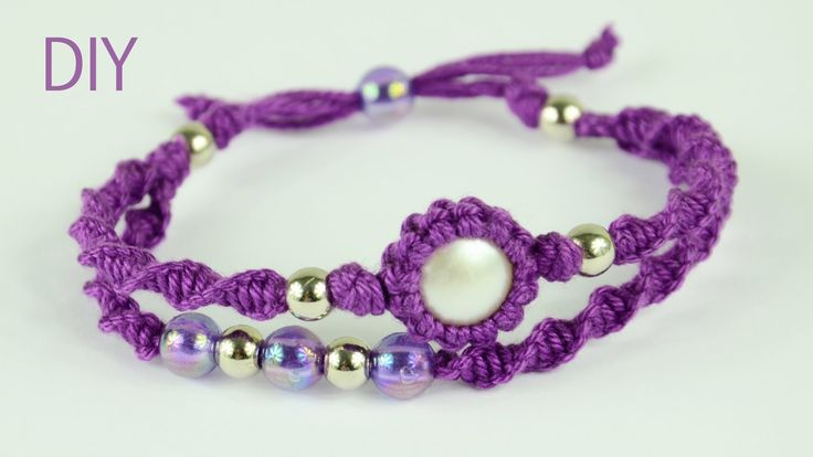 How to make a Macrame Double Bracelet with wrapped button or stone. You need to know Spiral knot and How to wrap a stone: Spiral knot: http://www.youtube.com...