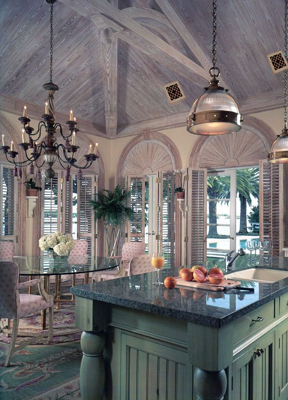 Beau-Artes Italian Renaissance decorative grilles on ceiling and shutters on doors