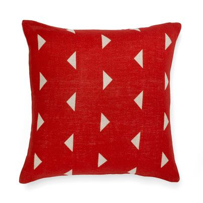 Triangles Cushion in Deep Red 50cm
