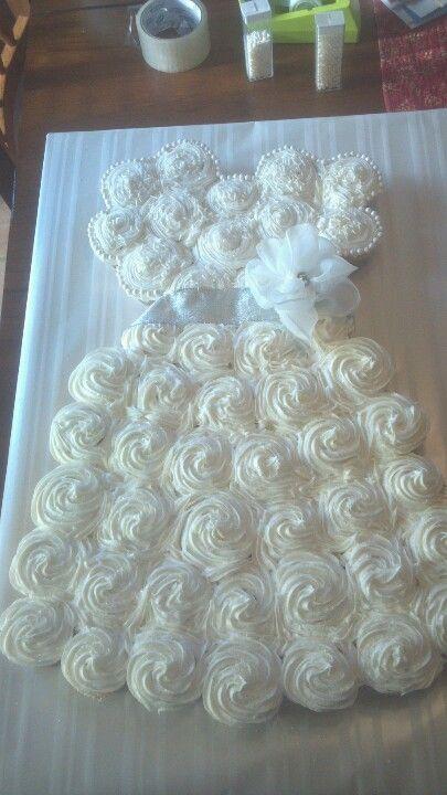 Wedding Dress Cupcake Cake Bridal Shower Pinterest