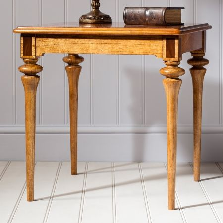 Frank Hudson Spire dining square lamp table. Beautifully finished oozing elegance £324.00 Shop > http://www.beau-decor.co.uk/side-coffee-tables/frank-hudson-spire-dining-square-lamp-table