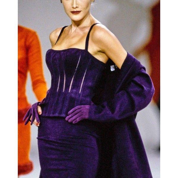 Alaia Autumn-Winter 1991 plum corset vest ❤ liked on Polyvore featuring outerwear, vests, vest waistcoat, purple waistcoat, alaïa and purple vest
