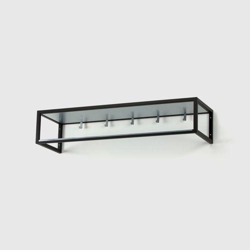 HALLHYLLA 11  W 100 x H 20 x D 30 cm  White / Black, Zinc / Brass