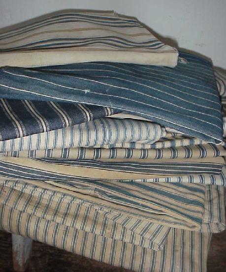 Antique Blue Stripe Ticking