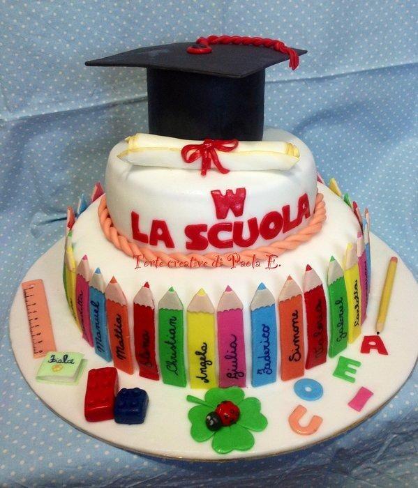 Cake+for+the+end+of+primary+school+(torta+per+la+fine+della+scuola+materna)