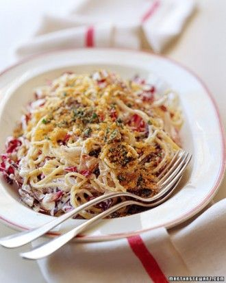 """See the """"Spaghetti with Radicchio and Ricotta"""" in our  gallery"""