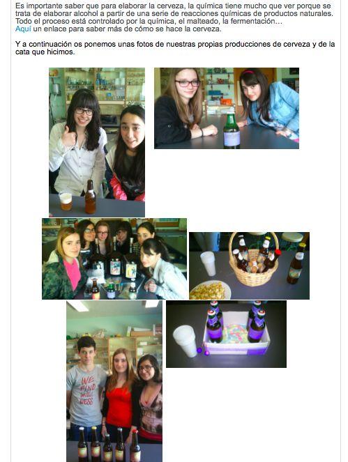 Química orgánica: La cervecería del castillo (Trabajos de los alumnos/as)